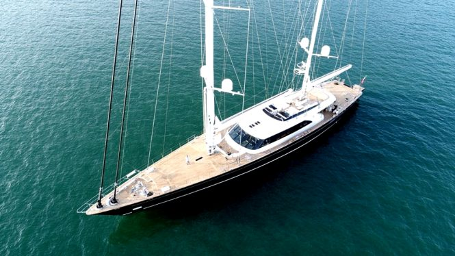 Sailing yacht SEVEN from Perini Navi will be on show throughout the event