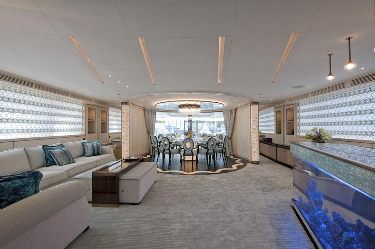 Skylounge aboard superyacht SCORPION