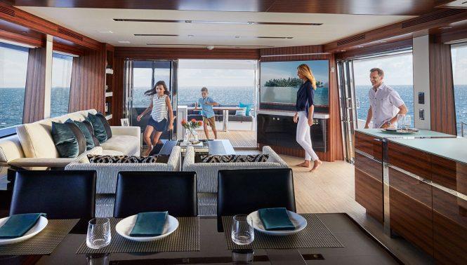 Superyacht M90 PANACERA salon interior
