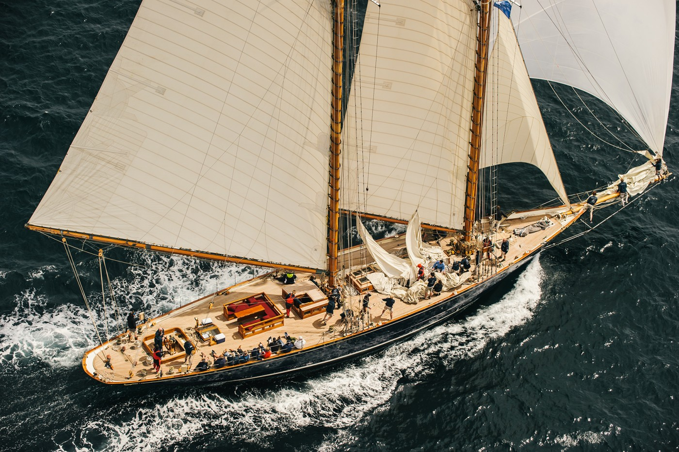 Superyacht MARIETTE OF 1915 at the Pendennis Cup 2014