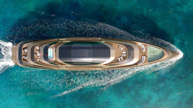 Superyacht SE77ANTASETTE - Aerial view