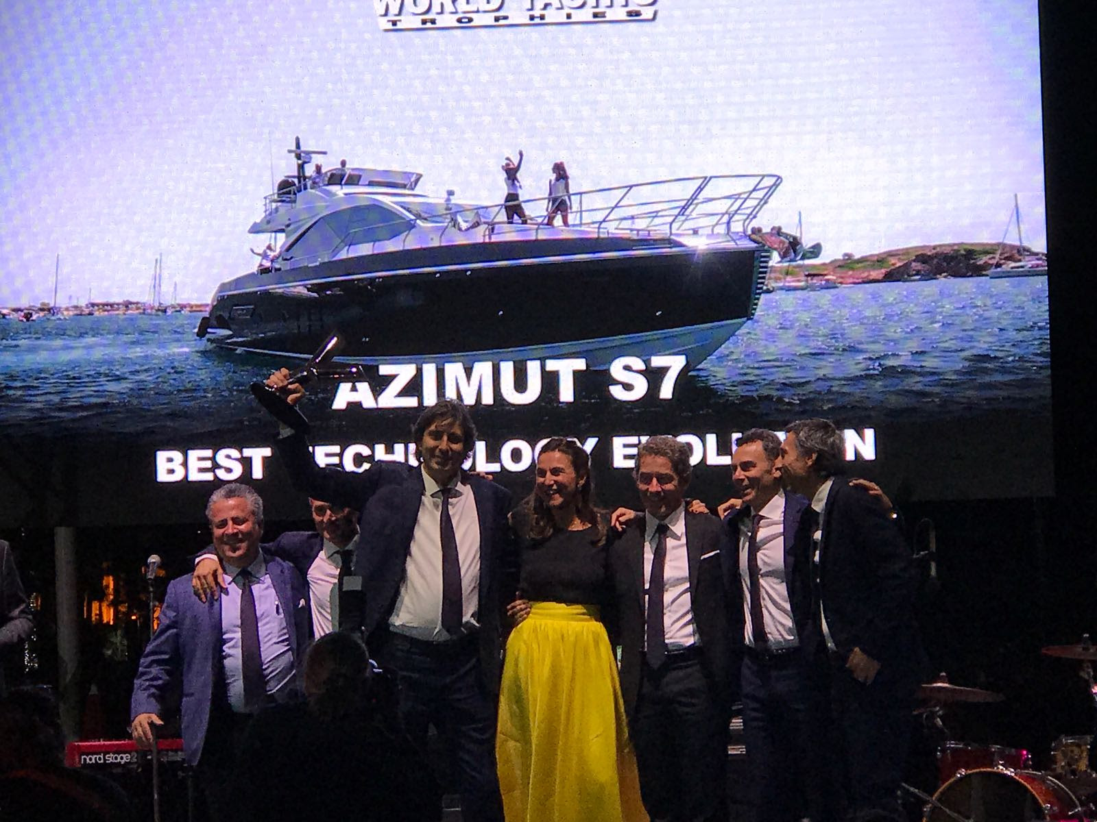 The Azimut S7 won Best Yacht Evolution at the World Yachts Trophies 2017