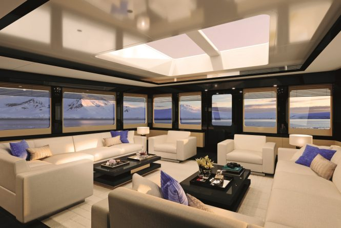 The forward observation lounge aboard the SeaXplorer 55