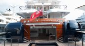 75m ANASTASIA at MYS 2017 - aft view of the beach club