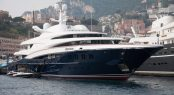 Anastasia at the Monaco Yacht Show