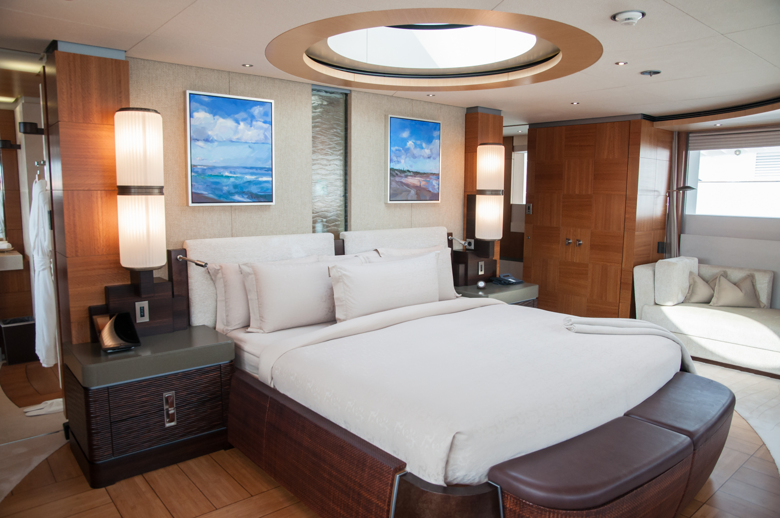Anastasia by Oceanco at MYS - Master owner suite with skylight