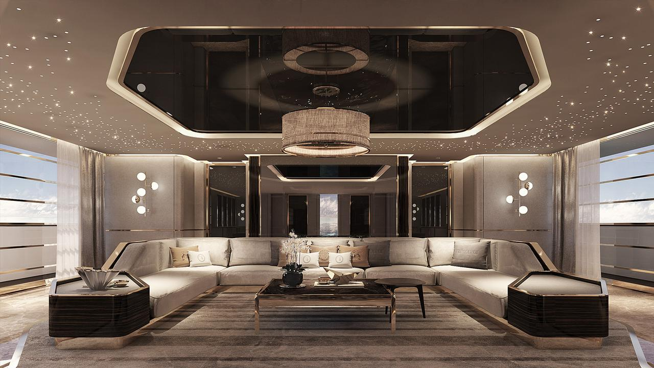 Concept interior for the MAVERICK 55 from Rossinavi