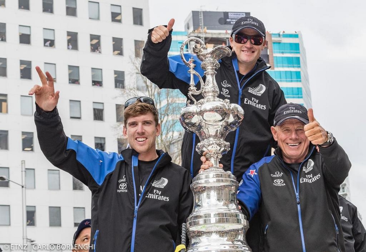 Emirates Team New Zealand, winners of the America's Cup 2017 which took place in Bermuda