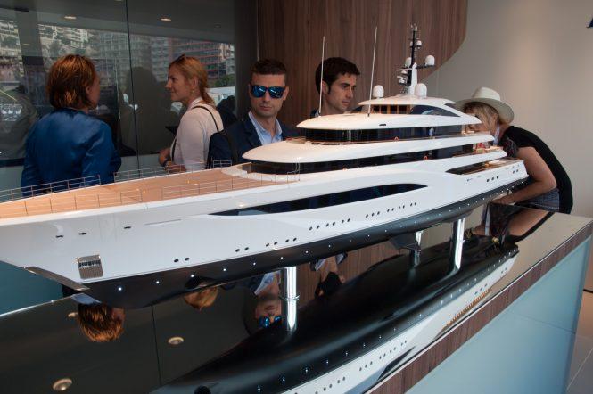 FAITH yacht model at Feadship stand - Photo © CharterWorld.com