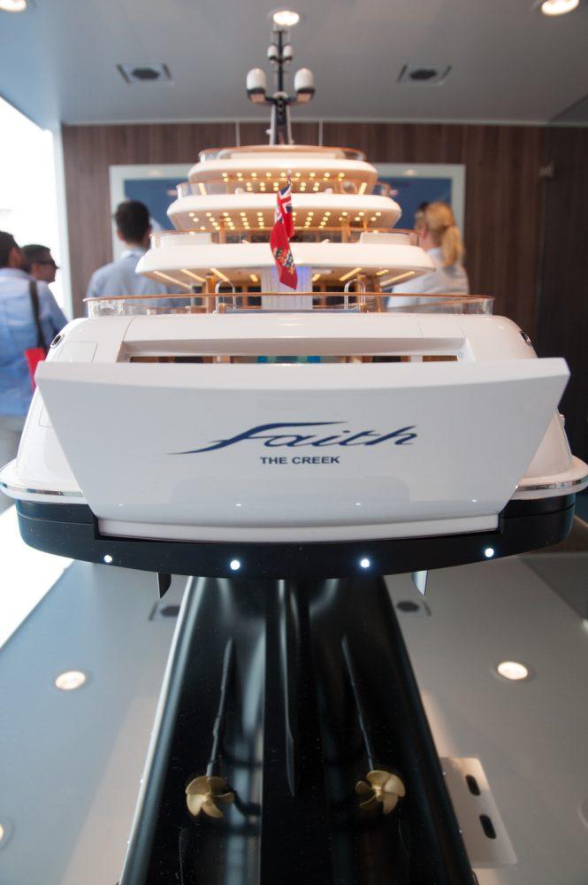 FAITH yacht model on display at MYS 2017 - Photo © CharterWorld.com