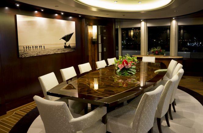 Luxury yacht DREAM - Formal dining area