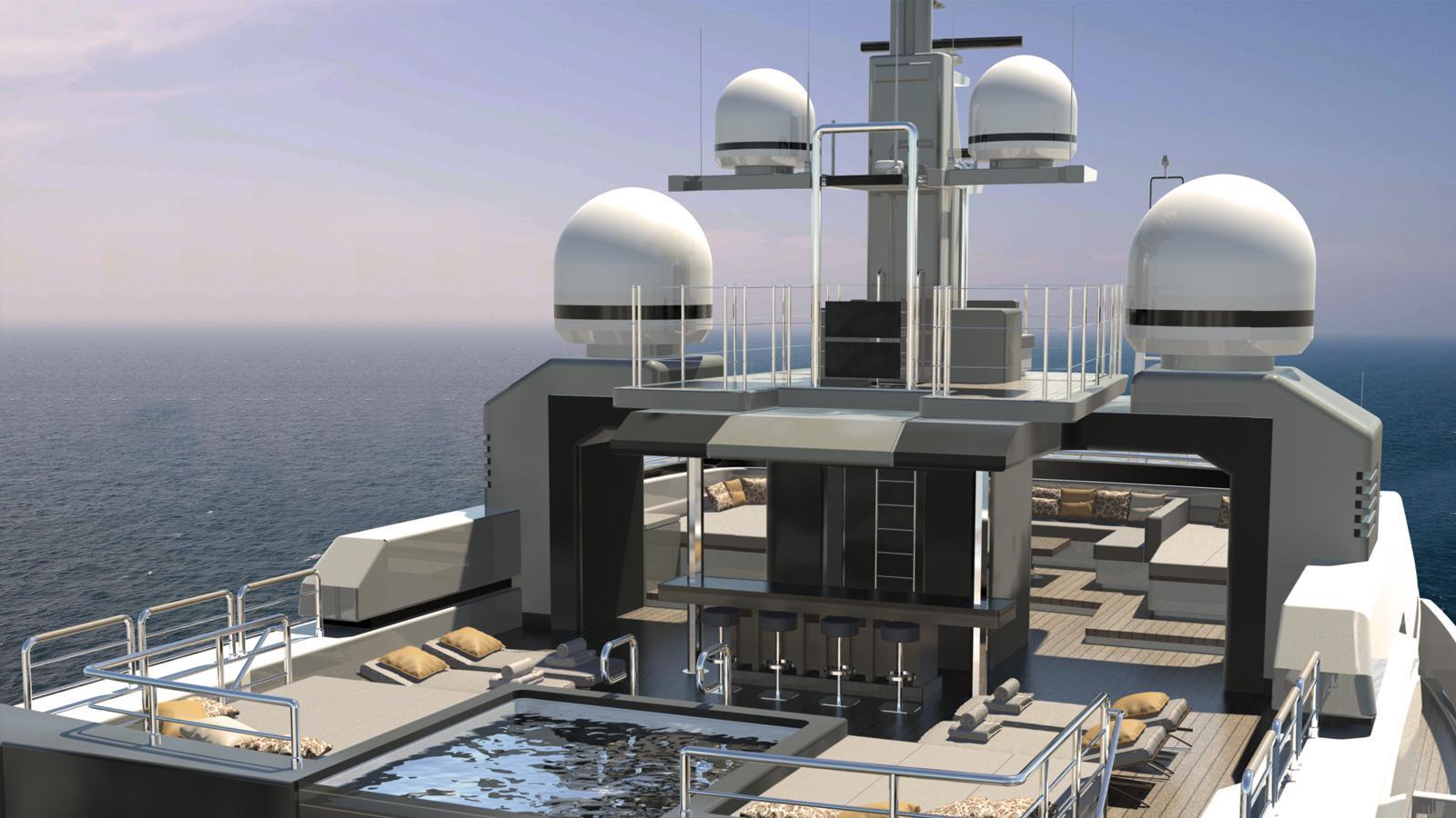 MAVERICK 55 - Spa pool, bar and telescopic lounge
