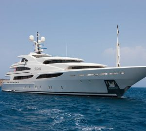 Charter M/Y St David in the Indian Ocean and to the Abu Dhabi Grand Prix