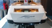Model of yacht FAITH at Feadship stand at MYS