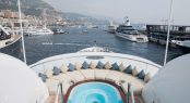 Monaco Yacht Show - view from Anastasia of Jacuzzi and the 110m Jubilee