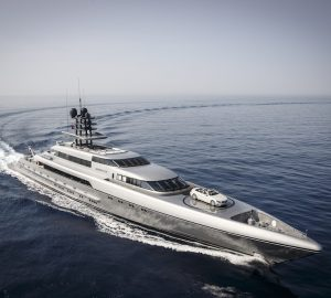 77m M/Y SILVER FAST available for charter to the Abu Dhabi Grand Prix and the Indian Ocean