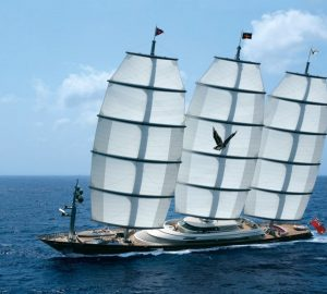 Charter iconic sailing yacht Maltese Falcon in the Caribbean and Bahamas