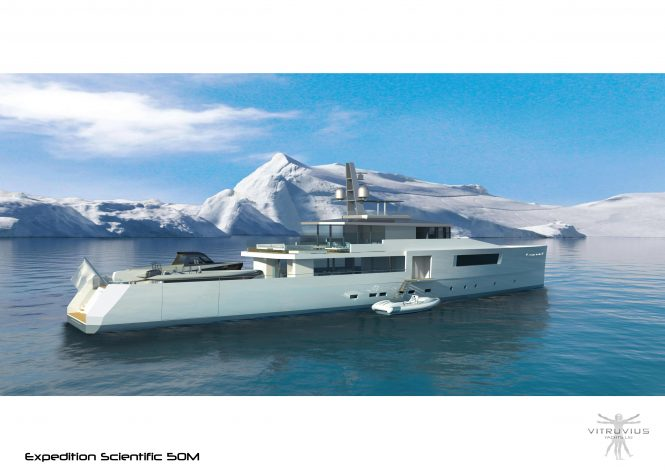 Phillippe Briand-Vitruvius Yachts 50m Scientific Explorer Yacht