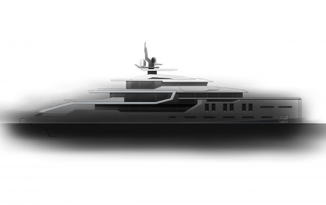 Profile of the 75m ICE Yachts hull