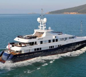 Charter motor yacht Sequel P in the Caribbean