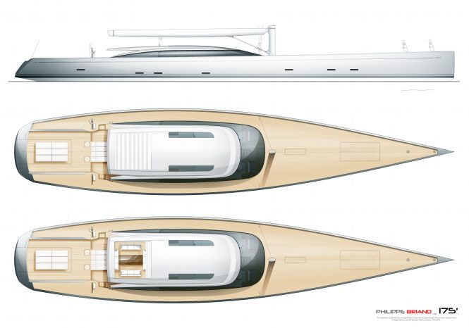 The 55m sloop expedition yacht from Phillippe Briand