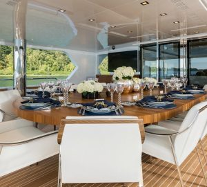 Escape with luxury yacht Chasseur on a Bahamas and Caribbean charter