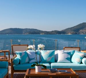 Charter beautiful beach club-style superyacht Ramble on Rose in the Caribbean and Bahamas