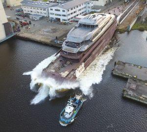 Lurssen Launched 95m Mega Yacht Project Fiji
