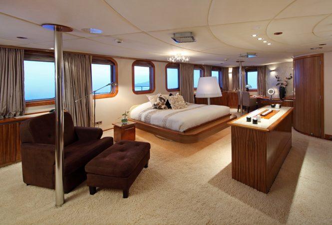 Yacht SHERAKHAN - Master Cabin