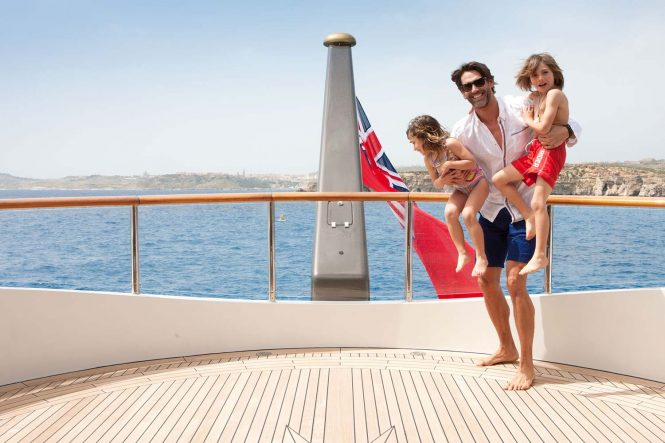 Create cherished memories for a lifetime with your family aboard superyacht ST DAVID