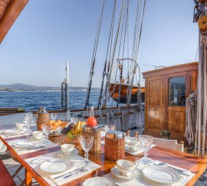 Secure classic schooner Trinakria for Western Mediterranean charters during summer 2018