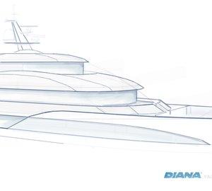 Diana Yacht Design reveals 55m luxury yacht concept Bluebird