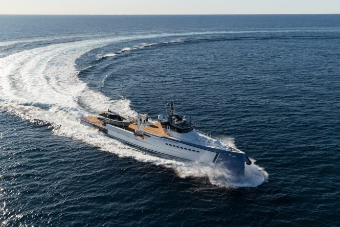 NEW FRONTIERS luxury yacht support vessel by DAMEN