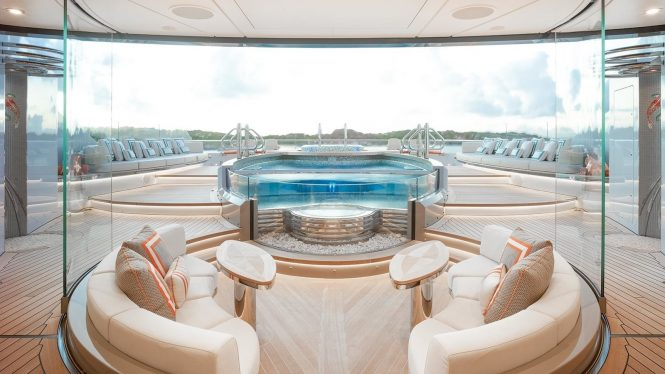Spa Swimming Pool Including Inset Jacuzzi Pool On Yacht KISMET