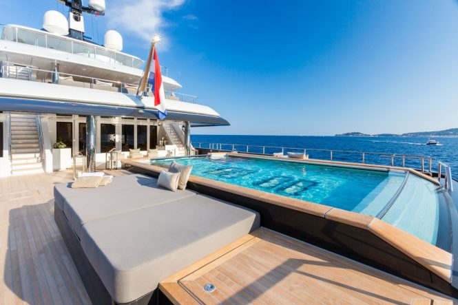 Swimming pool aboard the 68m ICON
