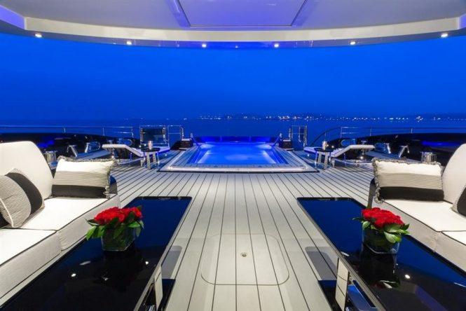 Take a dip and enjoy the views aboard OKTO