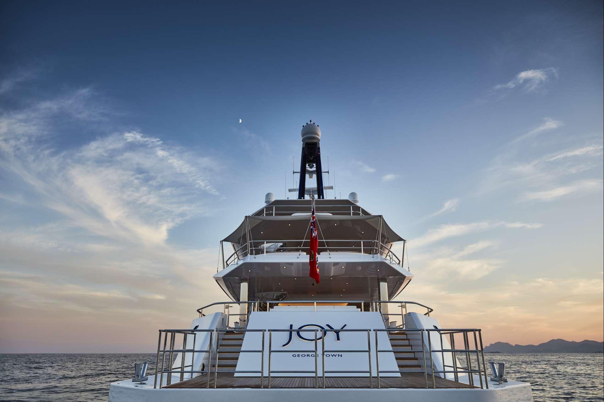 Yacht JOY Aft View - Copyright Feadship