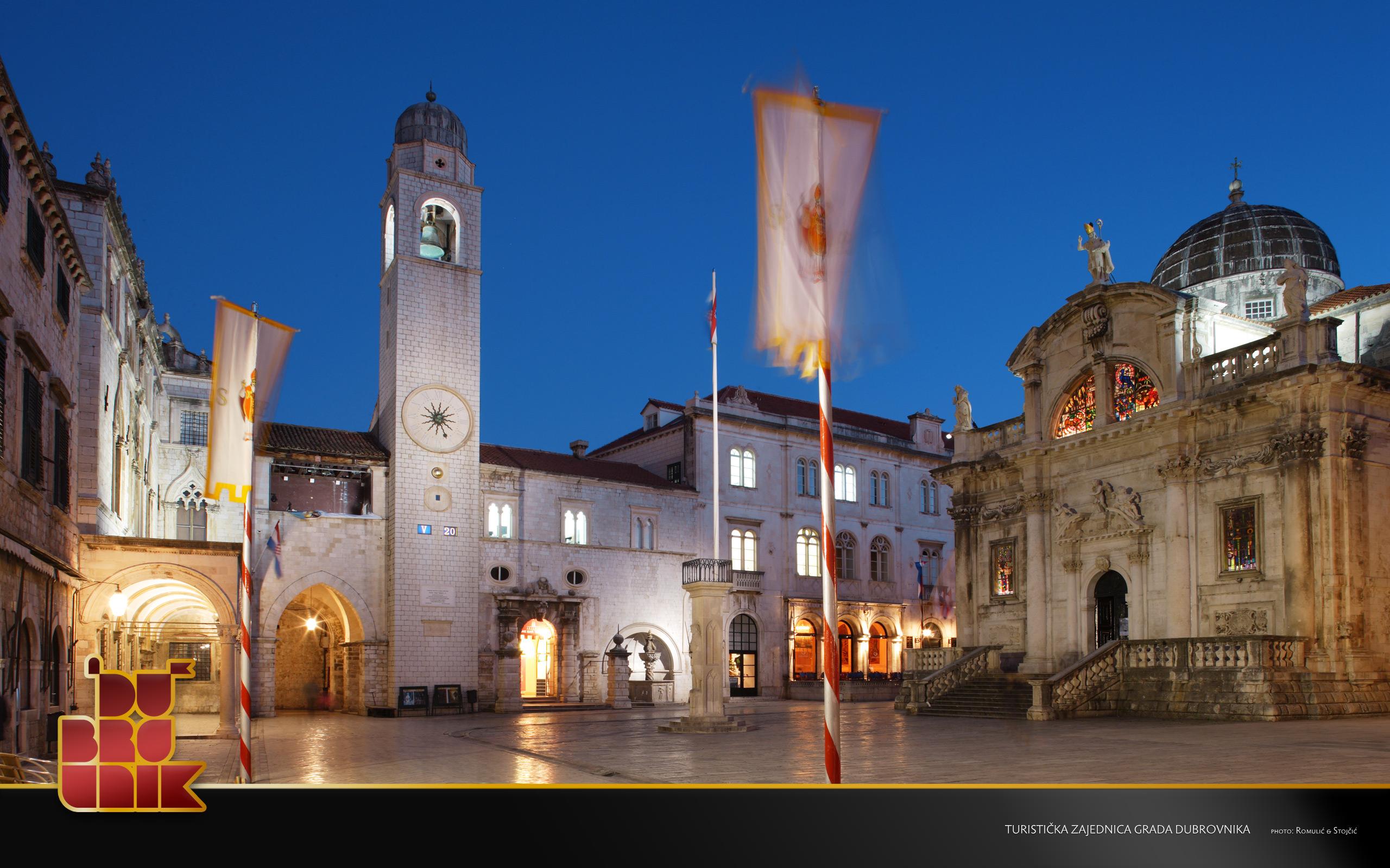 Dubrovnik by night - Photo credit Dubrovnik Tourist Board