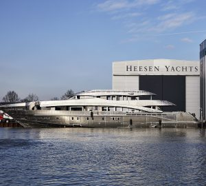 Heesen joins hull and superstructure of superyacht Project Aster