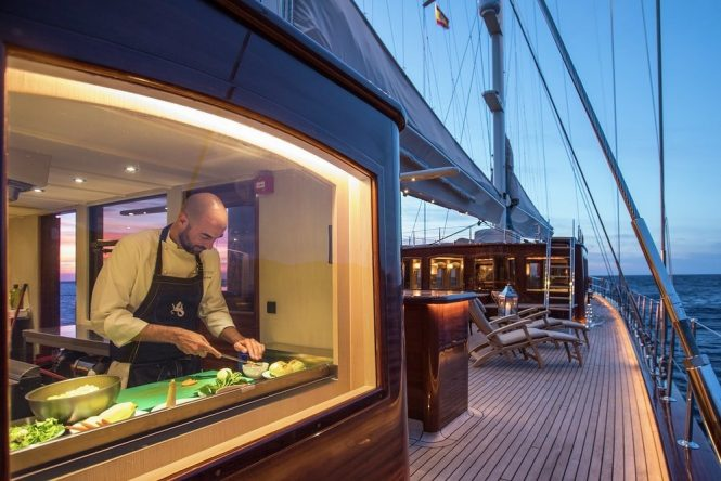 Mouthwatering Michelin star delicacies aboard luxury sailing yacht SATORI