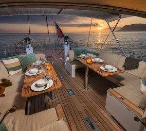 Charter recently refitted sailing yacht Padma in the Mediterranean