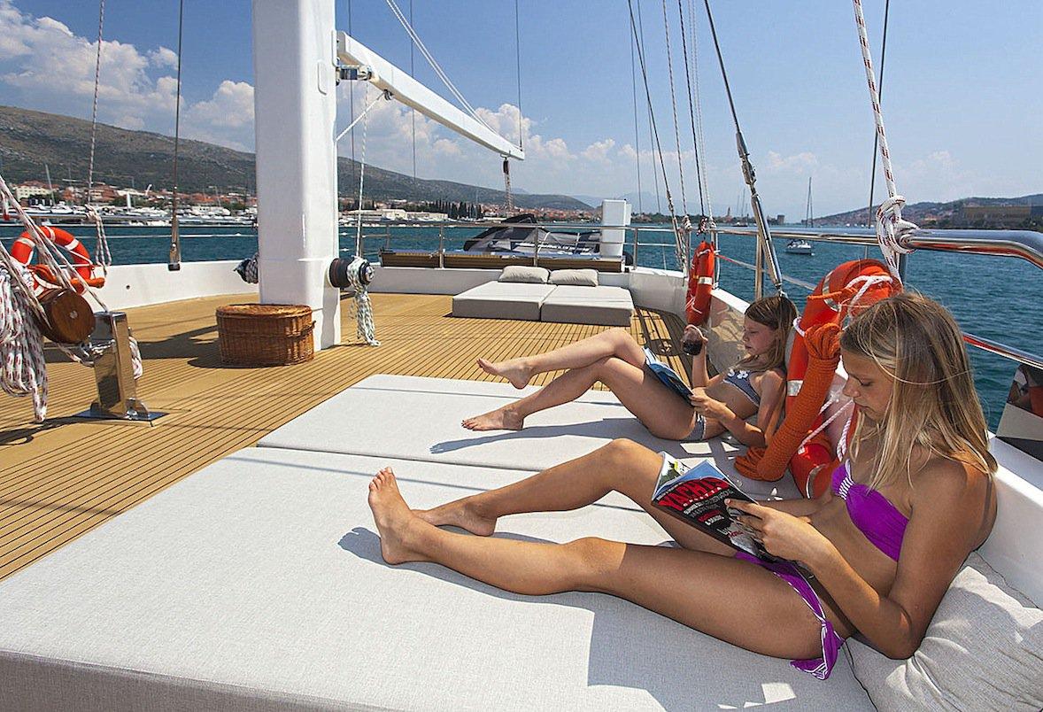 Relaxing aboard NAVILUX