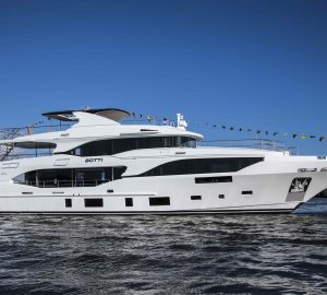 Mediterraneo 116' motor yacht BOTTI hits water at Benetti