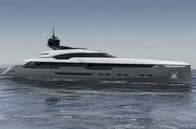 Rossinavi Vector 63M superyacht UTOPIA IV profile