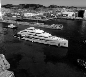 Hot News: 88.50m Mega Yacht ILLUSION PLUS launched by Pride Mega Yachts