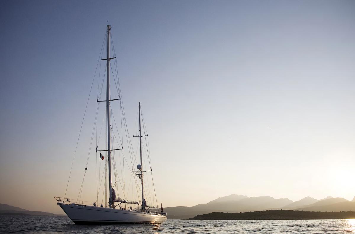 CYCLOS II at anchor