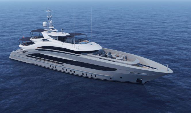 Luxury yacht OMAHA rendering - Credit Heesen