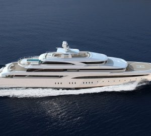 Brand-new 85m Mega Yacht O'PTASIA hits water at Golden Yachts