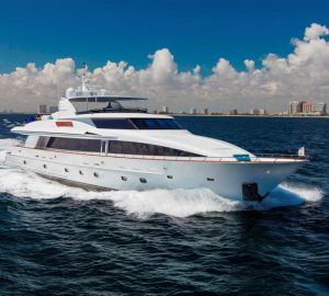 No Delivery Fees for 36.6m OCEAN CLUB Yacht Charter in the Bahamas