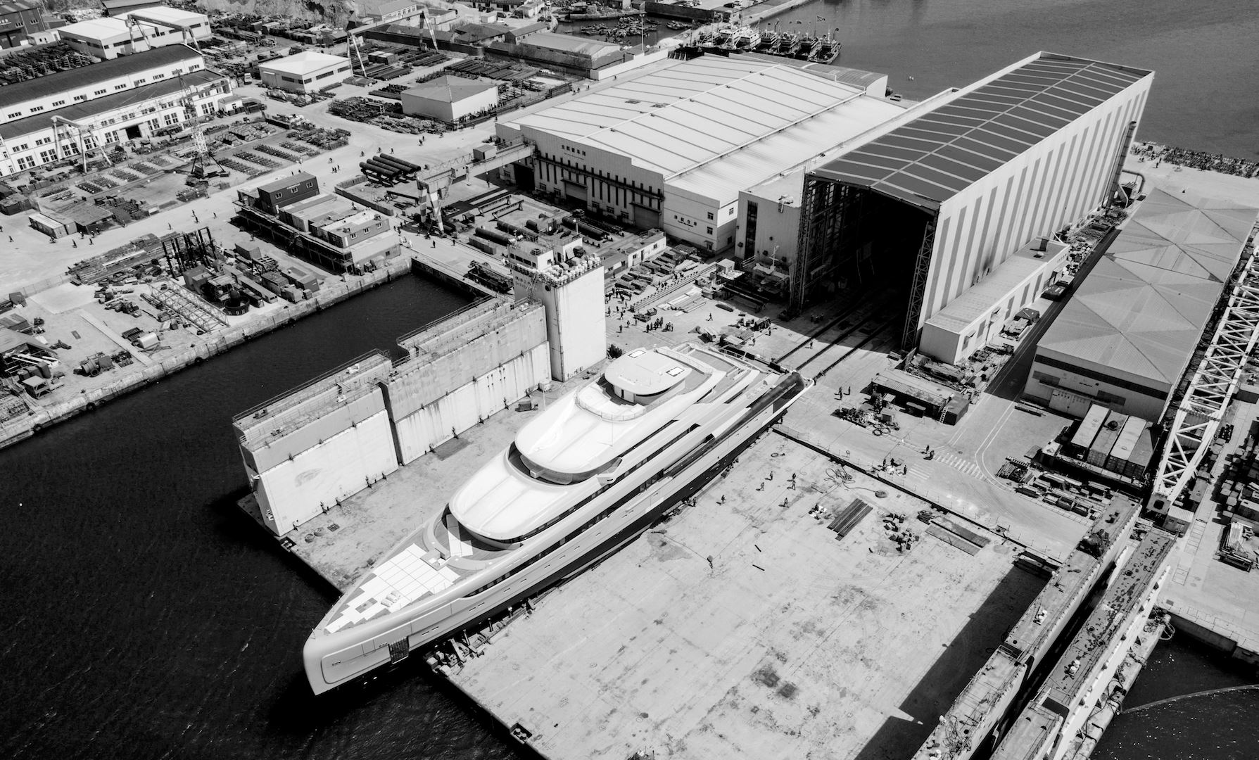 PMY superyacht ILLUSION PLUS ready for launch - Credit Pride Mega Yachts